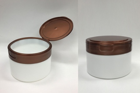 cosmetic jar with flip-top closure 200 ml miran