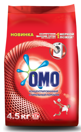 OMO Matic_4.5kg_Russia_Red_Powder_Bag